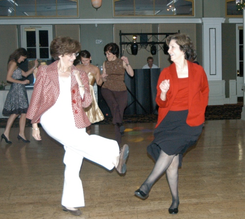 Aunt Jane (otherwise known as mom) and Aunt Ann dance off (note, they are not twins)